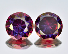 Azotic Topaz 2.83 Cts  2 Pcs Fancy Cut Red Color Natural Gemstone