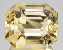 12.47 Cts Unheated Natural Yellow Sapphire Octagon Cut Sri Lanka