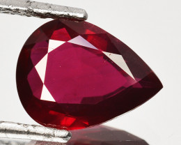 Certified RARE 3.49 Cts Natural Ruby Vivid Red Pear Cut Mozambique