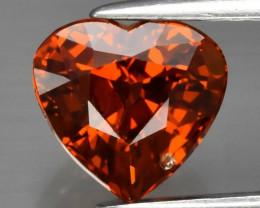 2.05ct VS Heart Natural Orange Spessartite Garnet, Namibia