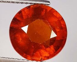 5.45 ct  AAA Grade Gem Round Cut Natural Hessonite Garnet