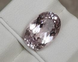 Certified 6.46 Carats Natural Kunzite Nice Cut Gemstone