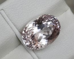 HGTL Certified 6.39 Carats Natural Kunzite Nice Cut Gemstone