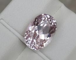 HGTL Certified 6.64 Carats Natural Kunzite Nice Cut Gemstone