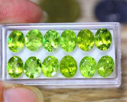 25.93ct Natural Green Peridot Oval Cut Lot V8453