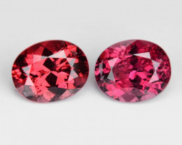 Spinel 0.85 Cts 2Pcs Unheated Red Color Gemstone