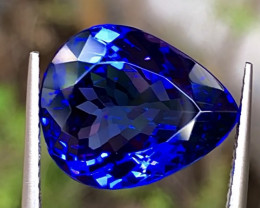 10.88ct Vivid Blue Tanzanite With Excellent Luster And Fine Cutting  Gemsto