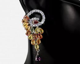 Adorable Nat 33.0tc mixed gemstone Earrings