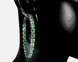 Astounding Nat 64.5tcw. Brazilian Emerald  Earrings