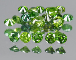 Diamond 0.31 Cts Sparkling Rare Fancy Green Color Natural