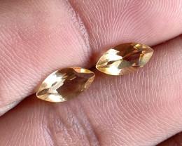 5x10mm Citrine Pair Natural Marquise Faceted Gemstone VA1703