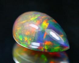 Opal 2.97Ct Natural Flash Color Ethiopian Welo Black Smoked Opal SA889