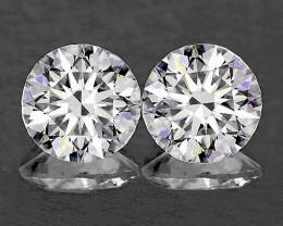 1.90 mm Round 2 pcs 0.05ct Natural White Diamond GHI VVS-VS