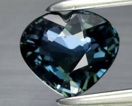 0.96ct  Heart Natural Unheated Bluish Green Sapphire,