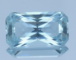 10.85Ct Aquamarine Step Brilliant Cut Gemstone@Nigeria