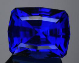 GIA Flawless36.63Ct DBlock Tanzanite Precision Cut Gemstone