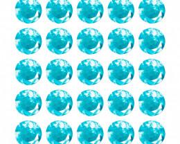25 Pcs Untreated Neon Blue Apatite Natural Gemstones
