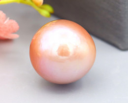 13mm 15.07Ct Natural 4A Near Water Drop Pink Edison Pearl A26