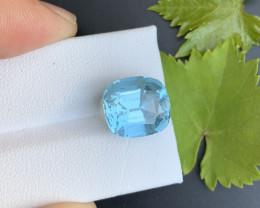 AAA Grade 8.25 ct Santa Maria Color Aquamarine