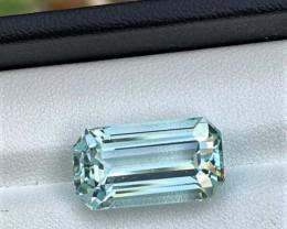 12Cts Brilliant Emerald Cut Natural color Eye clean Aquamarine 12CtsM1