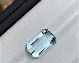 2.75Cts Excellent Emerald Cut Natural color Eye clean Aquamarine2.75CtsM6