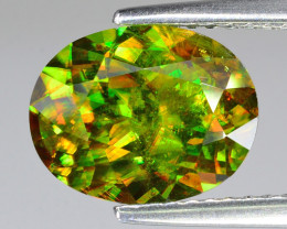 3.43 Ct Chrome Sphene Exceptional Color Pakistan Sp1