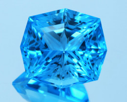 Flawless 39.53Ct Precision Master Cut Swiss Topaz Gemstone