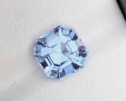 1.95Ct Santa Maria Color Asscher Cut Natural Aquamarine
