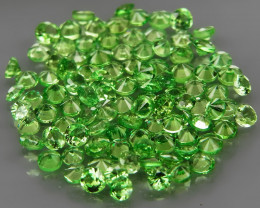 100Pcs/3.97Ct.Round Diamond Cut 1.8-2mm.Best Color Apple Green Tsavorite Ga