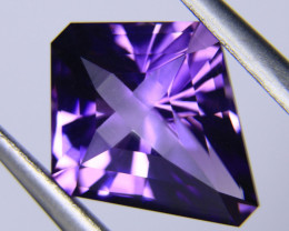 4.07ct Amethyst Frosted Cross Cut