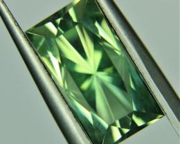 7.22ct Prasiolite Emerald cut