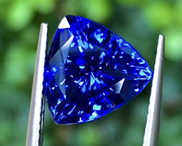 4.96ct Vivid Blue Tanzanite With Excellent Luster And Fine Cutting  Gemston