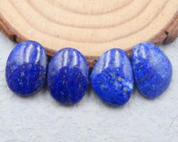 D2683 - 27.5cts 4pcs Lapis Lazuli cabochons,natural Lapis Lazuli gemstone,