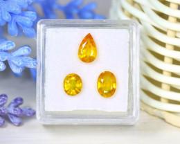 Sapphire 3.05Ct Natural Siamese Golden Yellow Sapphire Parcel SB959
