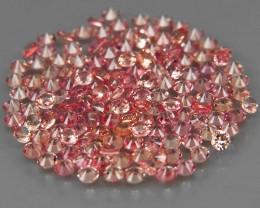 150Pcs/3.72Ct.Round Diamond Cut 1.6 mm.Ravishing Color Pink Sapphire Songea