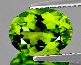 8x6 mm Oval 1.33cts Green Peridot [VVS]