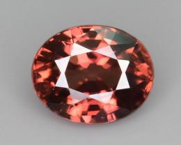 AAA Brilliance 1.55 ct Orangish Red Zircon Ring Size