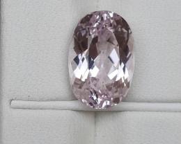 HGTL Certified 6.49 Carats Natural Kunzite Nice Cut Gemstone
