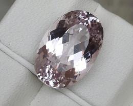 HGTL Certified 10.31 Carats Natural Kunzite Nice Cut Gemstone