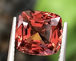 2.89ct Reddish-orange Spinel With Excellent Luster And Fine Cutting  Gemsto