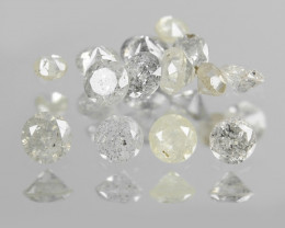 Diamonds 0.33 Cts 25Pcs Untreated Fancy Multicolor Natural