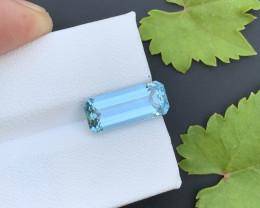 AAA Grade 3.60 ct Santa Maria Color Aquamarine~K