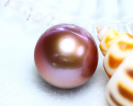 13.90MM 19.26Ct Natural Tahitian Aubergine Color Pearl  D0612/A245
