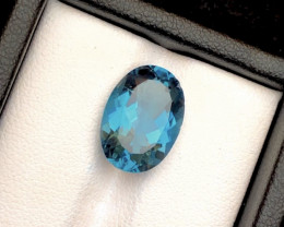 AAA Top Grade London topaz 6.40 ct Ring Size~M