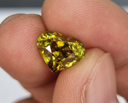 TOP RAINBOW GLOWING FIRES 4.73 CTS NATURAL STUNNING RARE SPHENE