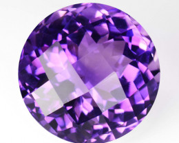 3.04Cts Excellent Natural Amethyst Round Checker Cut 9mm Loose Gem