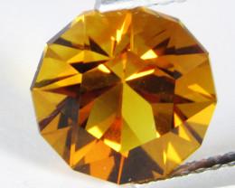 3.25Cts Genuine  Natural  Citrine Round precision Cut Loose Gemstone