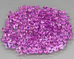200Pcs/3.01Ct.Round 1.3 mm.Ravishing Color Pink Purple Rhodolite Garnet Afr