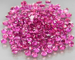 145Pcs/5.04Ct. Round 1.7 mm.Ravishing Color! Pink Purple Rhodolite Garnet A
