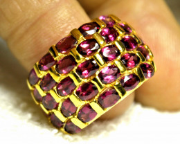 59.3 Tcw. Purple Garnet, Rose Gold Plated Ring - Size 7.5
